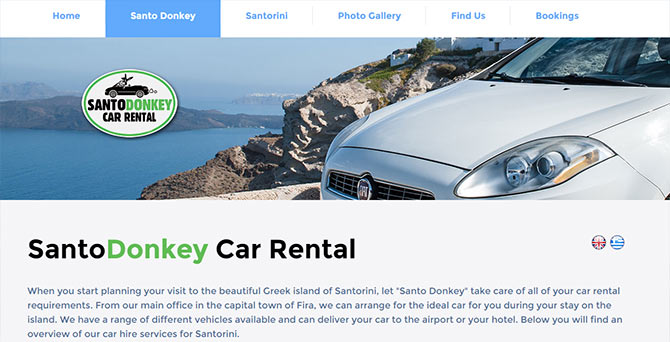 Santo Donkey Car Rental